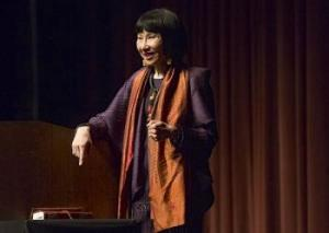 Amy Tan recently lectured at Ohio University on 27th February. Photo Credit: Erica Yoon